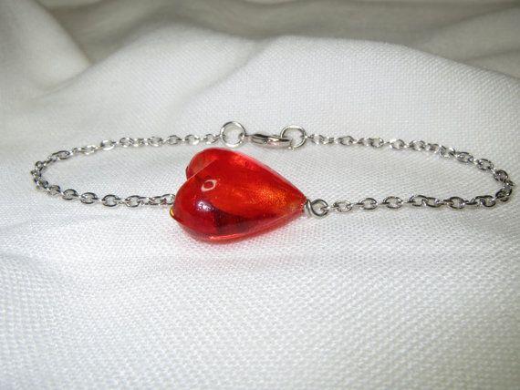 Heart Bracelet Heart Jewelry Valentine Gift Valentine by Thielen