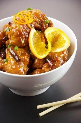 Bocconcini di pollo con brandy e arancia