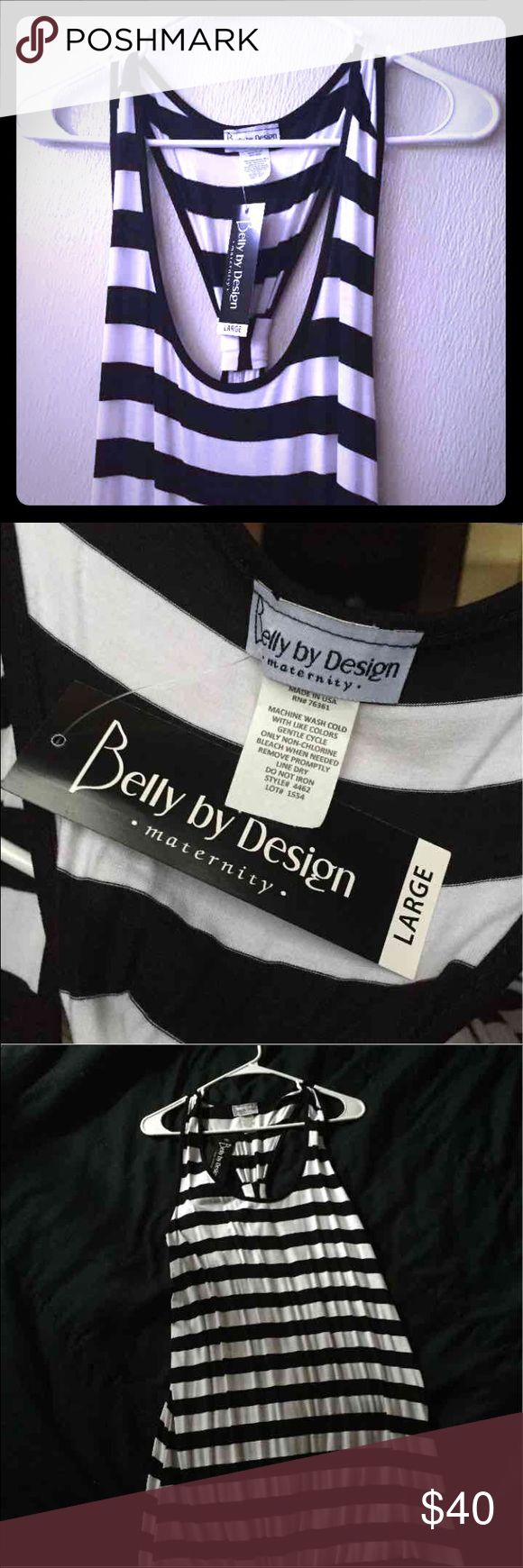 NWT Long Striped Maternity Dress Belly By Design Black & White Long Striped Maternity Dress. NWT ~*WILL SELL FOR LESS ON Ⓜ️📧R€*~ Dresses Maxi