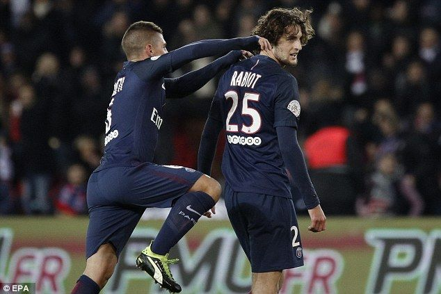 Adrien Rabiot put the result beyond doubt in the 67th minute with a long-range effort