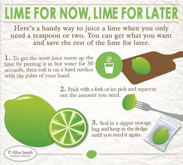 Best way to get the juice from a lime. | Helpful Hints | Pinterest