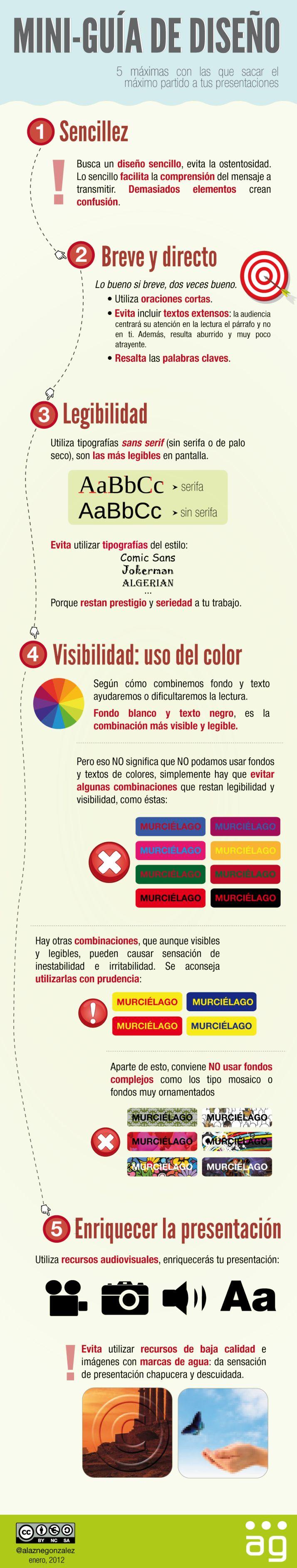 Cómo mejorar el diseño de tus presentaciones #infografia #infographic#design