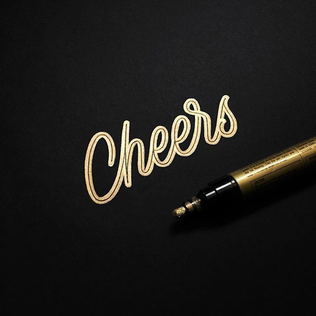 It's Friday! - Pen: super colour gold from @pilotnordic  #whichpendidyouuse #typography #lettering