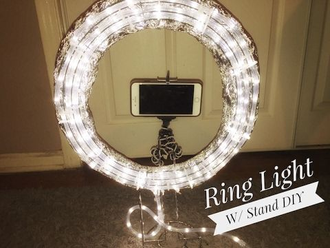 DIY || Ring Light Tutorial  || Diva Light || Do it yourself - YouTube