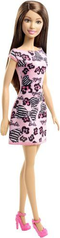 Barbie Pink-Tastic Doll, Bow Art On Light Pink Dress
