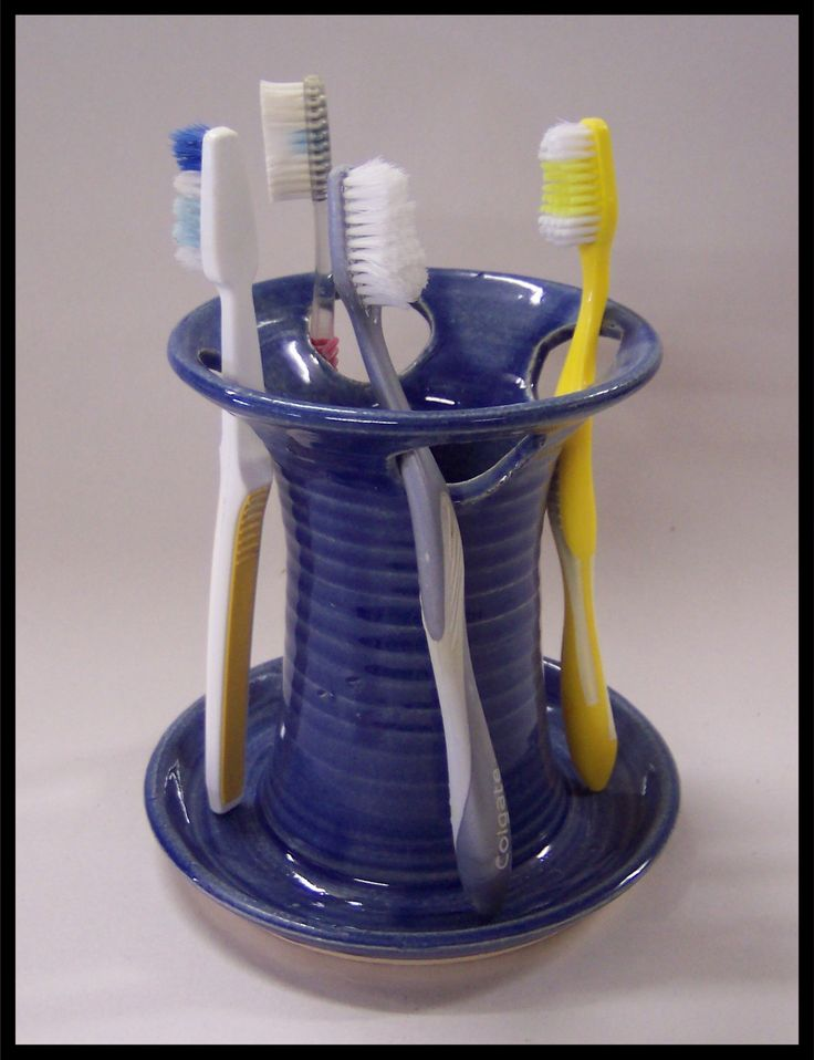 pottery toothbrush holder - Google Search