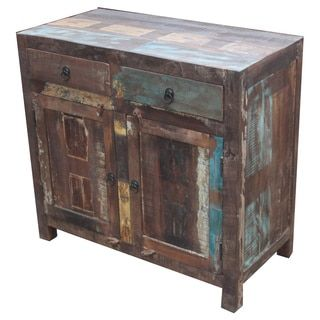 Shop For Timbergirl Reclaimed Wood 2 Door Sideboard Cabinet (India). Get  Free