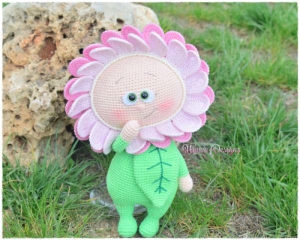 Bonnie With Flower Costume Amigurumi Pattern