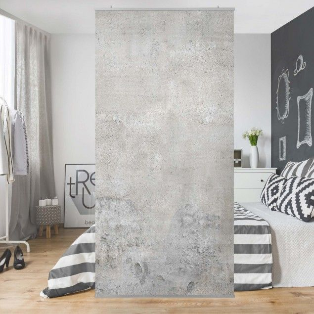 Raumteiler – Shabby Betonoptik 250x120cm