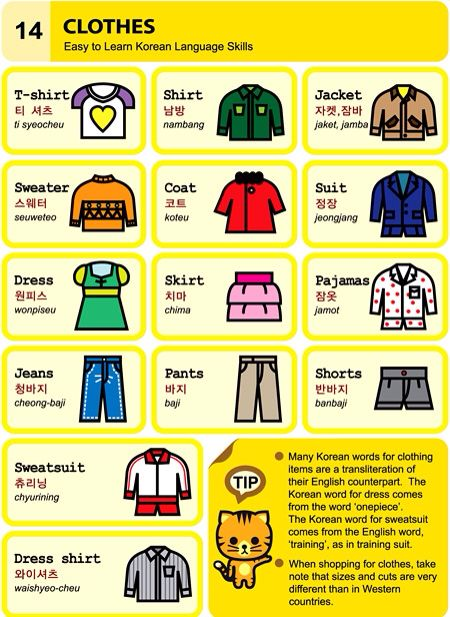 14. Clothing An Illustrated Guide to Korean by  Chad Meyer and Moon-Jung Kim