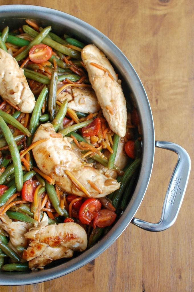 30 Minute One Pot Balsamic Chicken and Vegetables is the perfect quick weeknight meal that is full of flavor, tender chicken and vegetables.