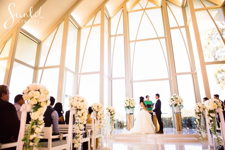 Sanctuary Cove Wedding Chapel... probably our favourite chapel EVER! So full of light, it's perfect for photography. Wedding Photos by Gold Coast Sunlit Studios
