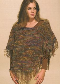 """""""Loose-Knit Cover-Up"""" Designed by Doreen L. Marquart. Knit with """"Harmony"""" from Wool in the Woods."""