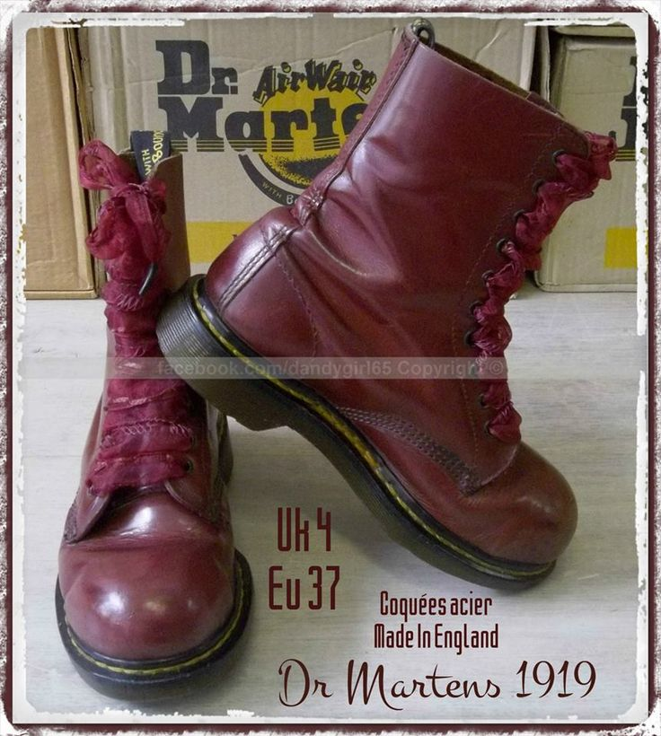 Dr Martens 1919 10 trous Vintage Made In England ☠ Dr. Martens Collection Personnelle ☠ Pas à vendre ☠ #dandygirl65