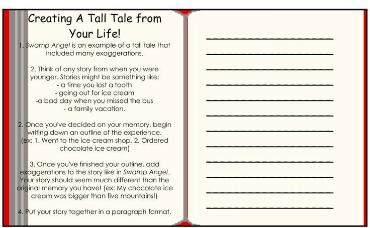 the Tall Tale introduction