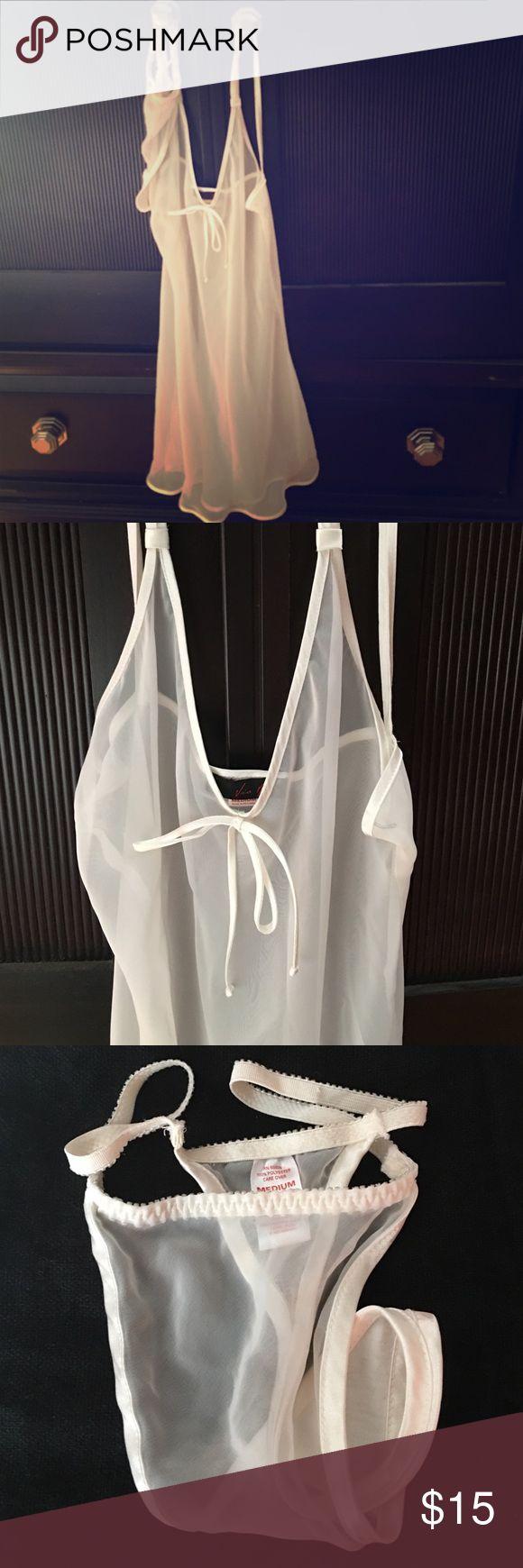 Elegant sexy lingerie set. Bundle only. By Via Nicci. 100% polyester. NWOT. Size Med but runs big. Fits a size LG. Via Nicci Intimates & Sleepwear Chemises & Slips