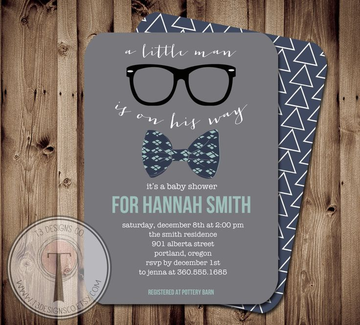 Little Man Baby Shower Invitation, Bow Tie Baby Shower, Bow Tie, Little Man, Chevron, Invite, hipster baby shower, hipster invite by T3DesignsCo on Etsy https://www.etsy.com/listing/198921851/little-man-baby-shower-invitation-bow