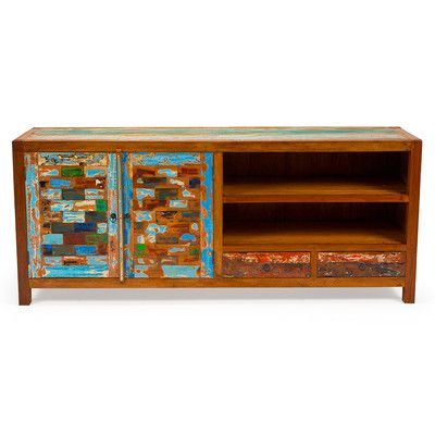 EcoChic Lifestyles Reel Deal Reclaimed Wood TV Stand