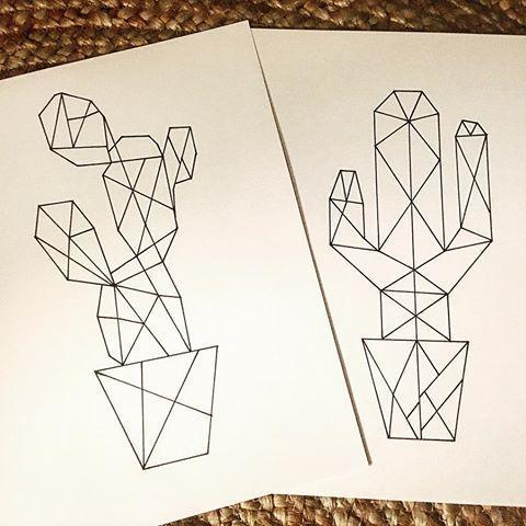 Kaktus-Origami #Kaktus #Kaktusaddict #Zeichnung #dessinorigami #origami
