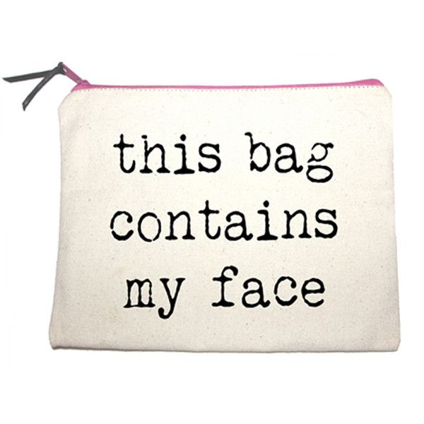 Danyela Slogan Make-Up Bag at http://www.ikrush.com found on Polyvore