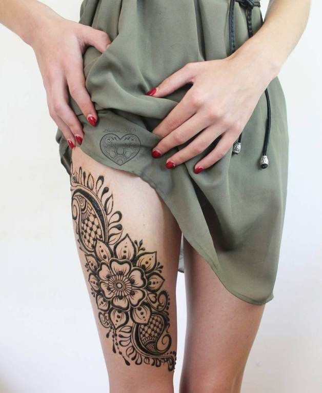 Mehndi designs for leg
