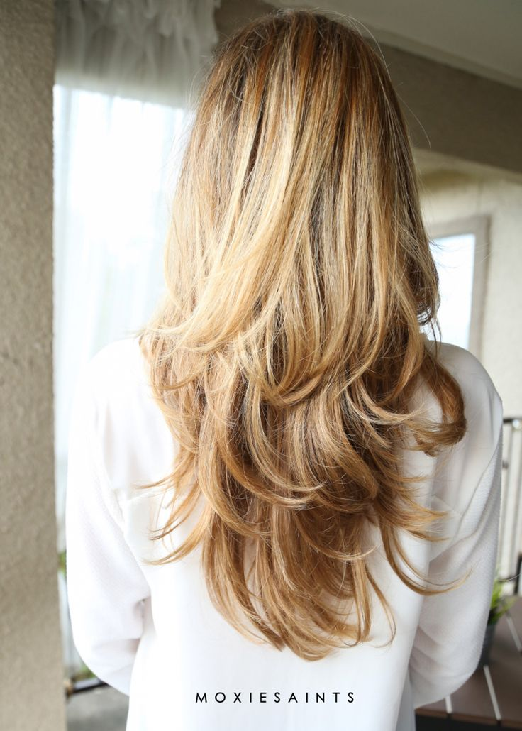 Long layers. Sombre with faded ombre. Perfect long layered cut and color. Blonde baby lights.  moxiesaints.com