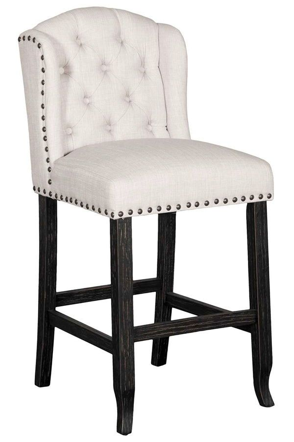 ivie upholstered barstool in 2019 | dining room | upholstered bar