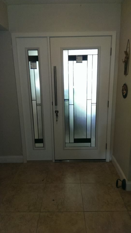 Doors Design: RSL Skyline Decorative Glass Door Insert In Fiberglass