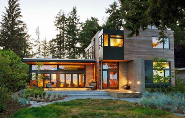 modernes haus gartengestaltung ideen nachhaltige architektur