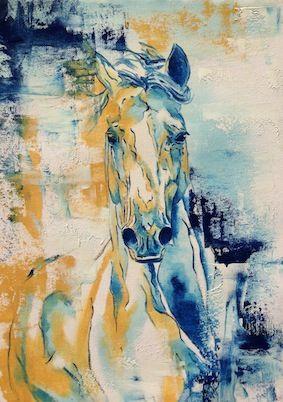 """Untamed Spirit"", Oil on Canvas Paper"