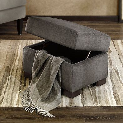 Add Stylish Storage To Any Room With The Regency Heights Palmer Storage  Ottoman. Beautifully Crafted With A Hardwood Frame And Soft Fabric, This  Ottoman Has ...