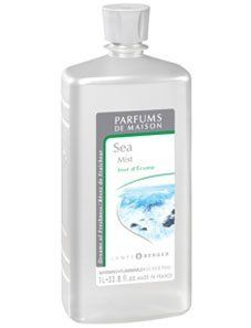 Sea Mist 1 Liter Fragrance Oil by Lampe Berger . $32.00. A breaking wave of strongly marine freshness marrying the liveliness of eucalyptus to iodized notes, on a woodsy plant base of sandalwood and moss.1 L: 40 hours of use for approximately 160 hours of fragrance