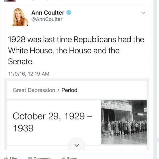 Funniest Post-Election Memes: The Last Time Republicans Were in Charge