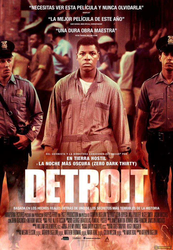 DVD CINE 2518 - Detroit (2017) EEUU. Dir: Kathryn Bigelow. Racismo. Cine social. Baseado en feitos reais. Anos 60. Sinopse: ambientado durante os disturbios raciais que sacudiron a cidade de Detroit, no estado de Michigan, en xullo de 1967, o filme narra a redada da policía nun bar nocturno sen licenza, que acabou converténdose nunha das revoltas civís máis violentas dos EEUU