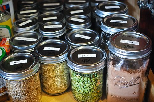 how to store food chart (on counter, in fridge, in dark, in water, etc.)