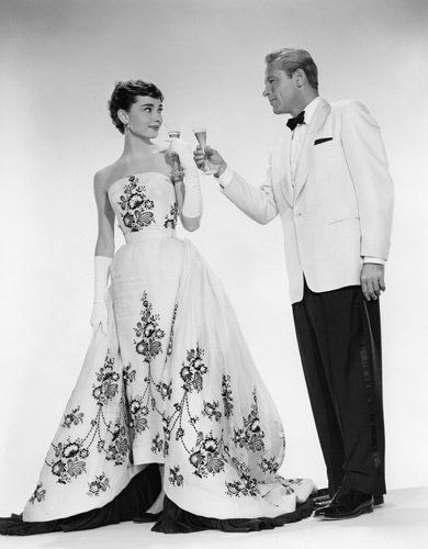 "Audrey Hepburn and William Holden from ""Sabrina"""