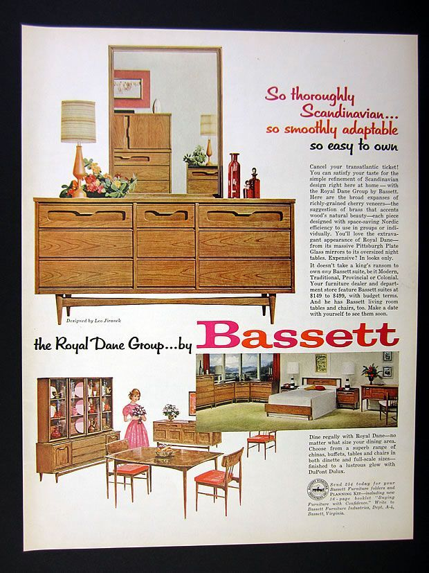 13 Best Images About Vintage Bassett Furniture Advertisements On Pinterest