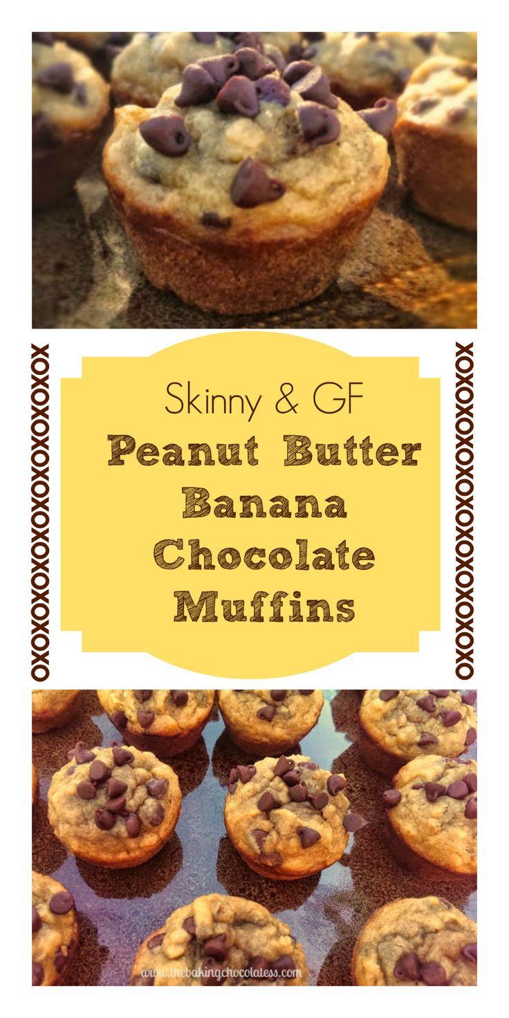Skinny Peanut Butter Banana and Chocolate Muffins {GF} – The Baking ChocolaTess