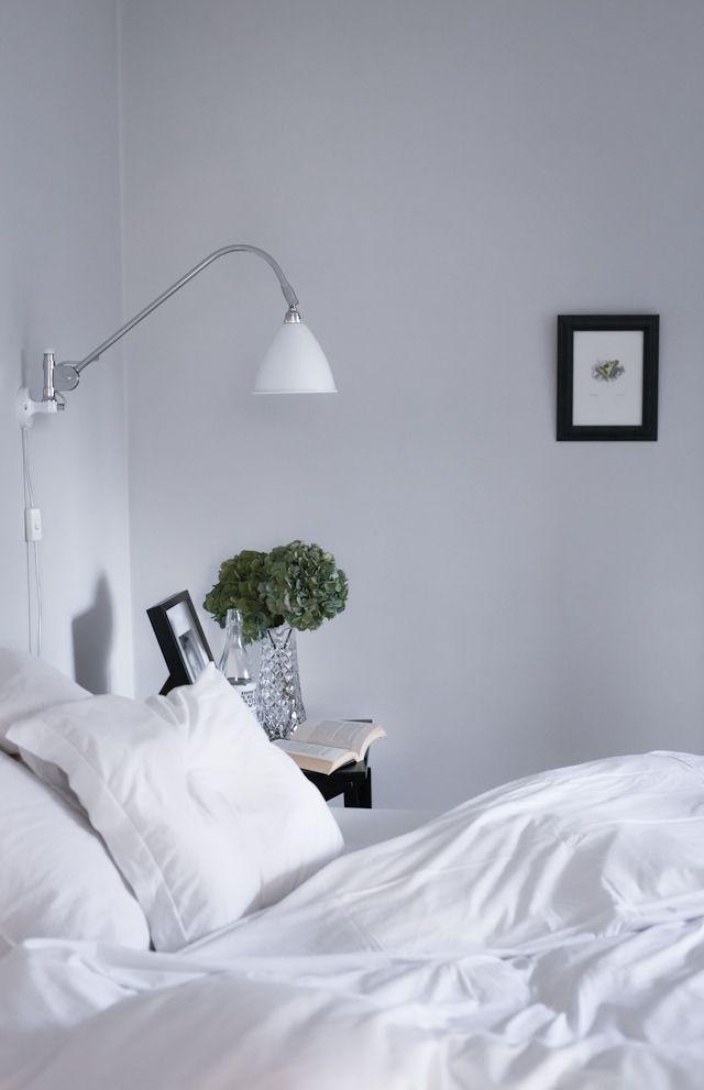 Sovrum grått och svart