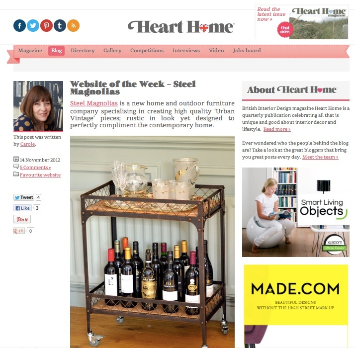 Heart Home website of the week Nov 2012