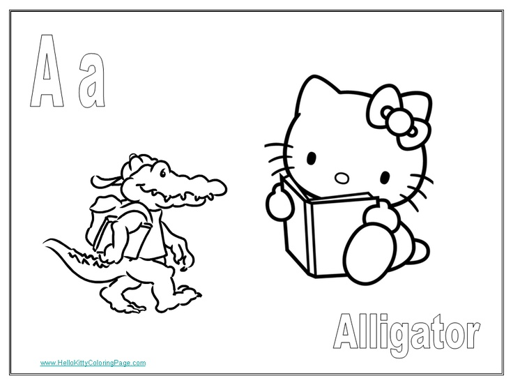 Free Printable Hello Kitty Coloring Pages Each Page Focuses On One Letter Or The Alphabet Many More Printables For Kids