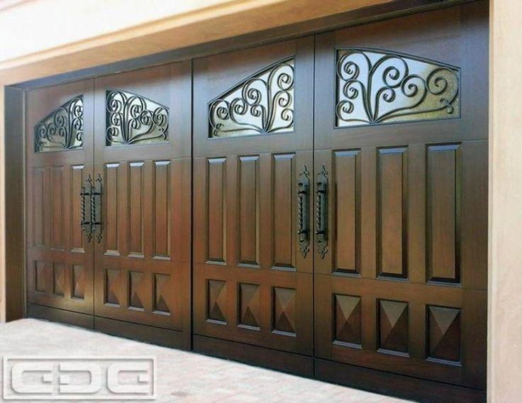 Exterior Design Solid Garage Door Design With Windows
