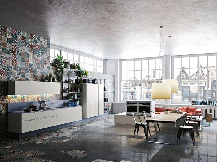 Linear Kitchen ORANGE EVOLUTION By Snaidero | Design Michele Marcon