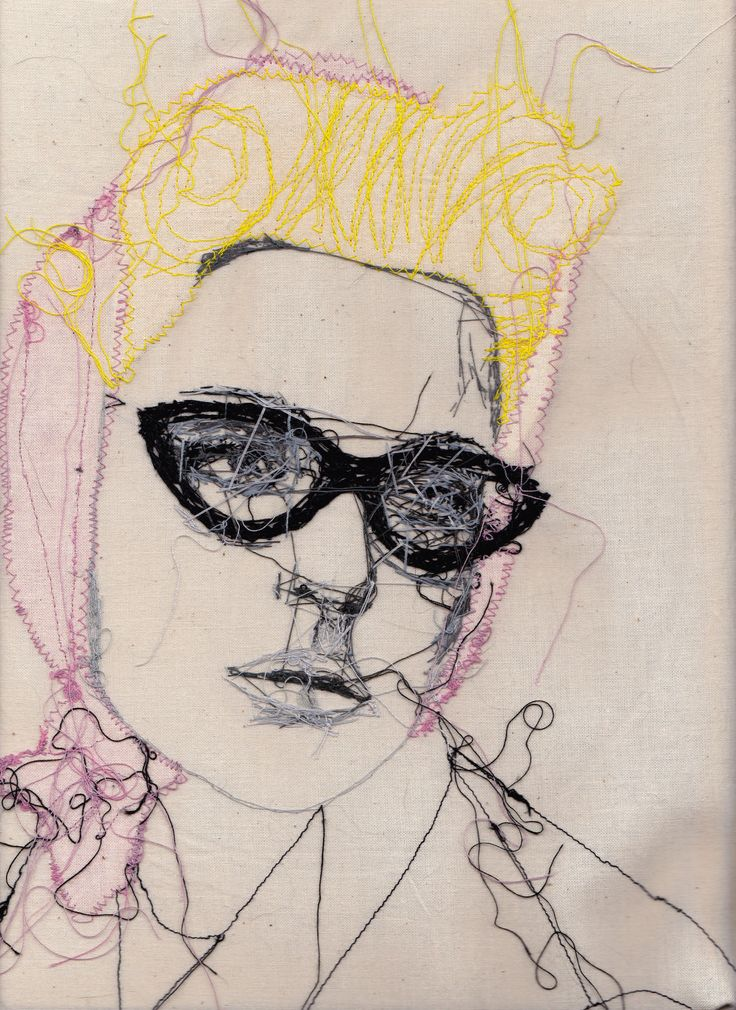 Embroidery Fashion Portrait Art Print 14x11  von sparklymouse, $24,00