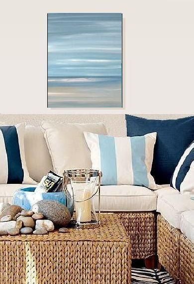 Beach ocean blue, abstract seascape