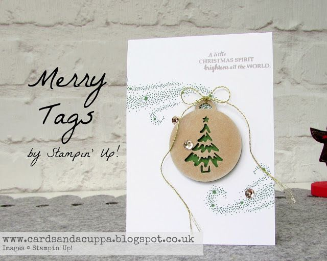 Sarah-Jane Rae cardsandacuppa: Stampin' Up! UK Order Online 24/7: Using Merry Tags and Star Of Light by SU! to make a mini Christmas Tree Card