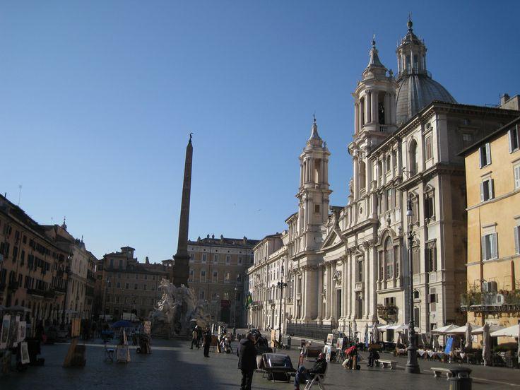 Пьяцца Навона - римская площадь с 3-мя фонтанами