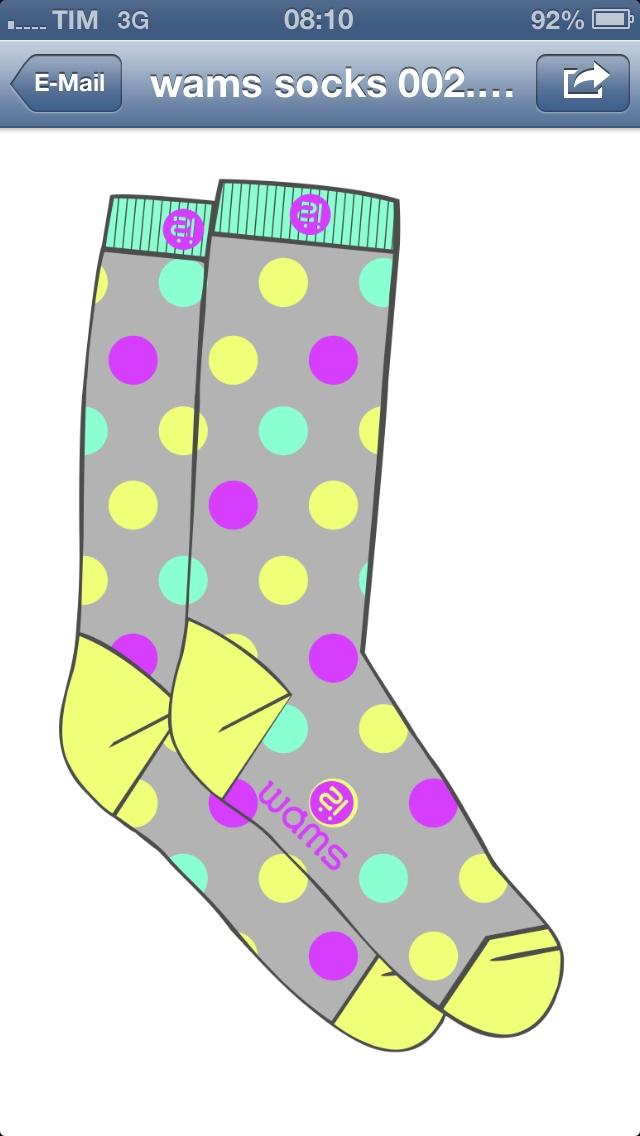 Wams spring pois socks
