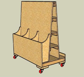 Sketchup Models of Shop Furniture for a Small Shop #1: Mobile Shelves, Expandable Assembly Table and Materials Cart - by Jack Barnhill @ LumberJocks.com ~ woodworking community