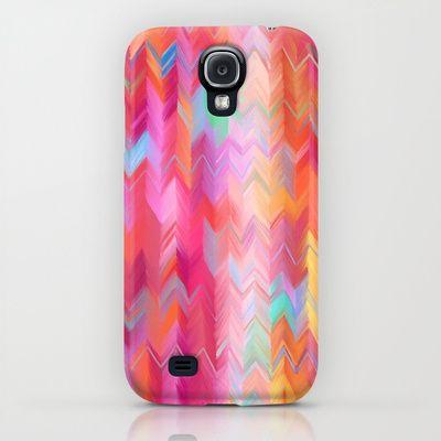 Colorful painted chevron pattern - pink, purple, yellow, orange iPhone & iPod Case $35.00